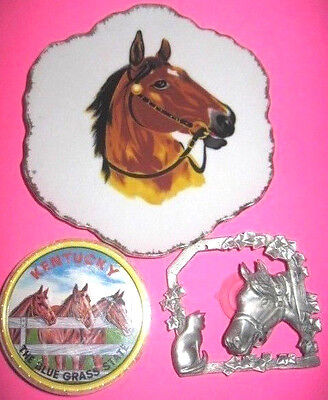 Lot of 3 Vintage Horse Collectible Items
