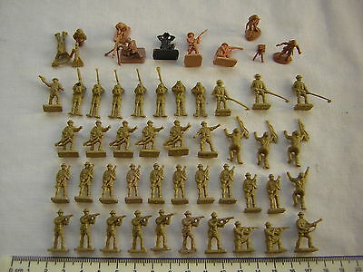 50 X Airfix Mixed 1st & 2nd Issue WW2 British 8th Army (Desert Rats) Scale 1:72