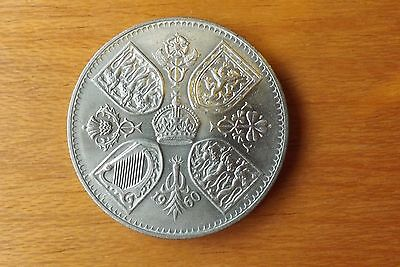 British Crown Coin 1960 UNC Grade Lustrous Toned Very Nice.