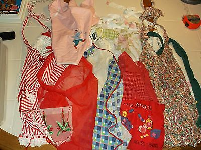 Lot Of 12 Aprons/Smocks Nice Variety- Most Are Vintage