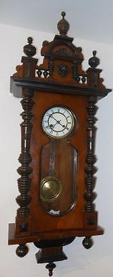 keyhole walnut vienna wall clock c1900s
