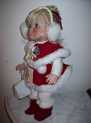 """Lee Middleton  """"christmas Angel 1992""""  Collectible Vinyl Skater With Coa"""