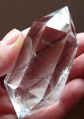 Natural clear crystal  double terminated point healing quartz