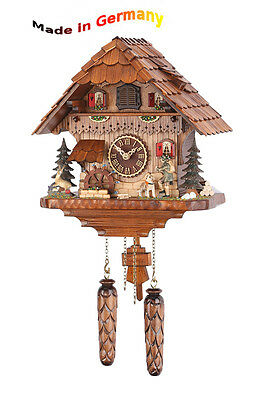 Quartz Cuckoo Clock Classic,Black Forest,Portable Hunter,Made in Germany