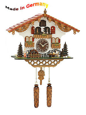 Cuckoo Clock from the Black Forest, Moving Figures, Made in Germany, Gift