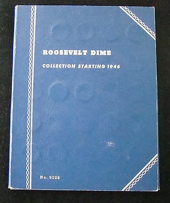Complete 1946 - 1964 Roosevelt Silver Dime Set In Whitman Book - 48 Dimes, #3823