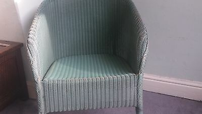 Original vintage Lloyd Loom chair - blue - 1953