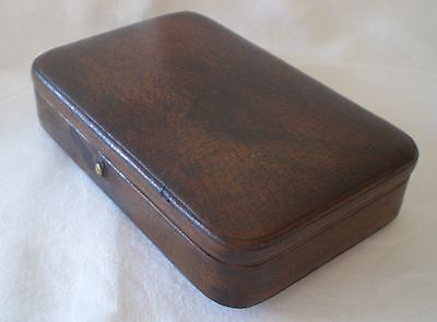 Vintage Leather Jewellery Or Trinket Box/case For Man Or Woman