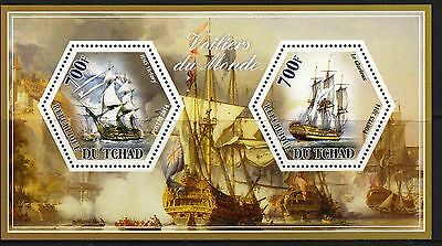 (A295) TCHAD 2014 Sailing ships  Voiliers  Segelschiffe  MNH