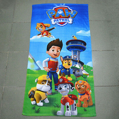 Cute Paw Patrol Bath Shower Beach Swim Cotton Towel Kids Baby Boy Girl Toy Gift