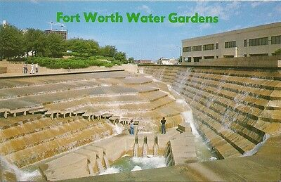 Fort Worth Water Gardens Downtown Fort Worth Texas TX Postcard Excellent