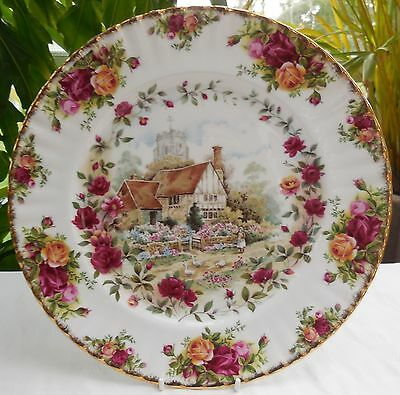 Royal Albert Old Country Roses Cottage 26cm Collectors Plate