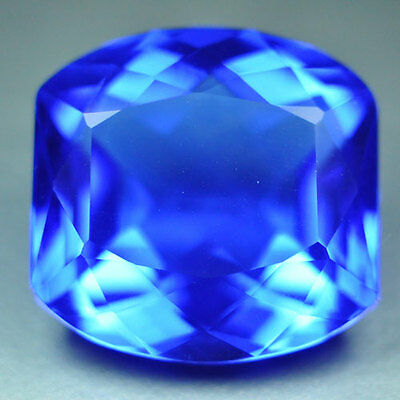 14.25ct.EXCELLENT CHROME BLUE TAZANITE QUARTZ CUSHION  LOOSE GEMSTONE