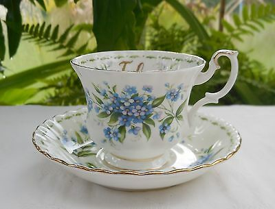Vintage 1st Quality Royal Albert Flower Of The Month July Cup & Saucer
