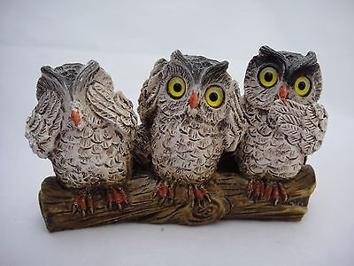 Cute Little Ornament Featuring 'Three Wise Owls'