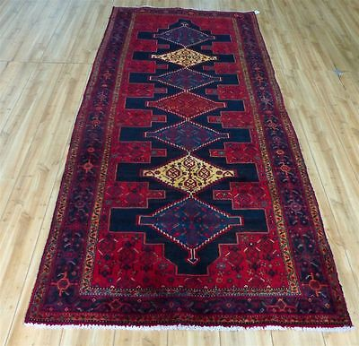 4'x10' Authentic Fine 1950'S Persian Geometric Caucasian Oriental rug runner