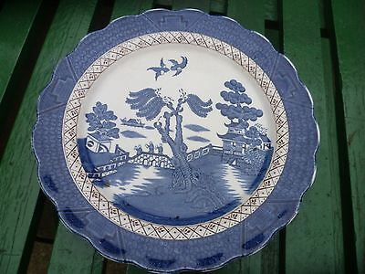 Vintage Booths Real Old Willow Ware Large Plate  10.50ins  Diameter