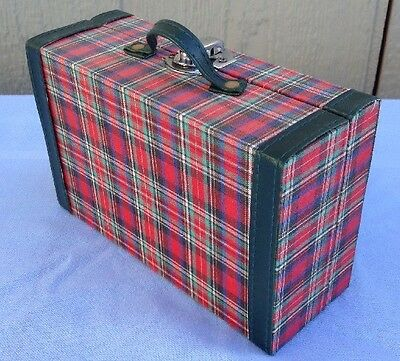 Pleasant Company American Girl Molly Plaid Suitcase Luggage Trunk Accessory Red