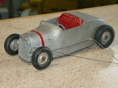 Vintage All American Hot Rod Tether Car, Toy Vehicle