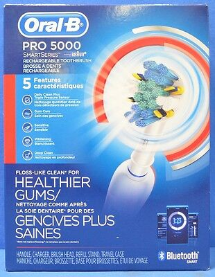 NEW Oral-B Pro 5000 SmartSeries Bluetooth Power Rechargeable Electric Toothbrush