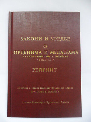 Serbia - Yugoslavia: Laws And Regulations Abouth Orders And Medals - Rare !