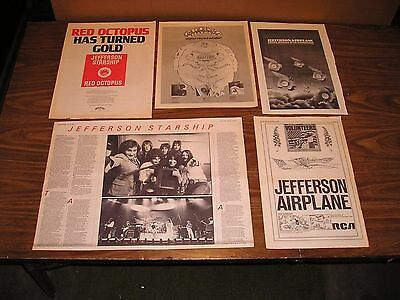 JEFFERSON AIRPLANE- Clippings Collection 18 Items: Ads, Articles, Reviews