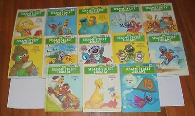 Vintage Sesame Street Library Books Big Bird with Jim Henson's Muppets