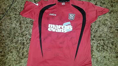 """Superb Ipswich Town Away Shirt Signed By 23 - """"proof"""""""
