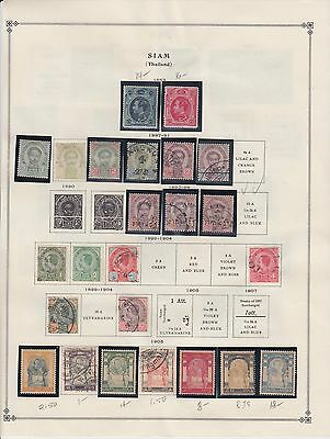 THAILAND 1ST PAGE COLLECTION LOT MOST IN MOUNTS $150+ 99c NO RESERVE