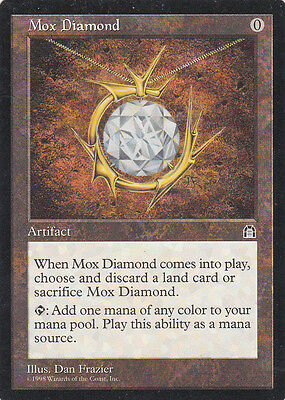 1 x Mox Diamond rare artifact from Stronghold (magic the gathering)