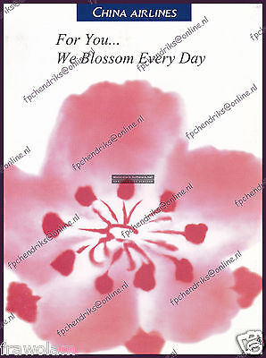 China Airlines Brochure - For You We Blossom Every Day - 8 Pages English 1997