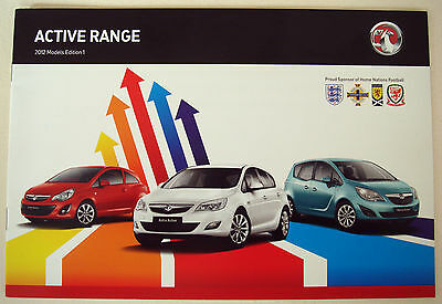 Vauxhall . Active Range . 2012 Models Edition 1 . Sales Brochure