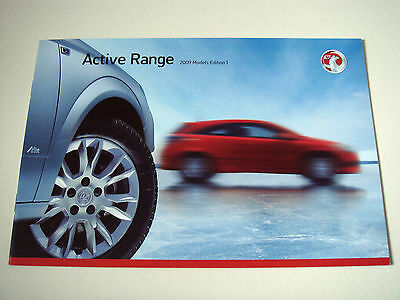 Vauxhall . Active Range . 2009 Models Edition 1 . Sales Brochure