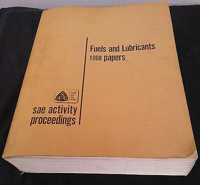 1968 Fuels And Lubricants Papers Sae Auto Motive Engineers Car Chrisler Vw Honda