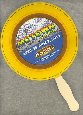 Motown: The Musical Promotional Hand Fan 2015 National Tour Los Angeles Pantages