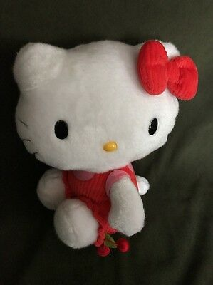 """Hello Kitty By Sanrio Plush 10"""" ADORABLE with Cherries"""