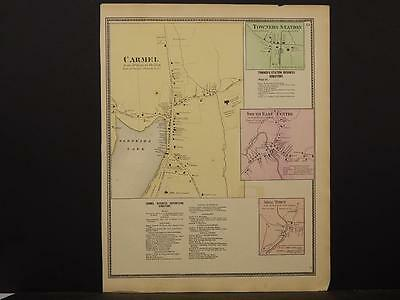 New York, Putnam County Map, 1867 Carmel, Mill Town, Towners Station O5#46