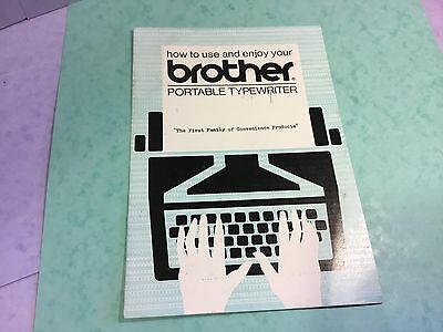 Brother Typewriter 4 Page Original Instructions To Enjoy Portable