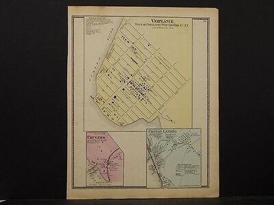 New York, Westchester County Map, 1867 Verplank, Croton Landing, Crugers O5#51
