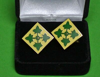 4th Infantry Division Army Cufflinks