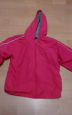 Manchester United Deep Pink Rain Jacket Aged 6-7 Yrs