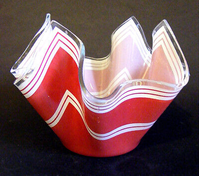 Chance Red And White Bandel 2 Five Inch Handkerchief Vase