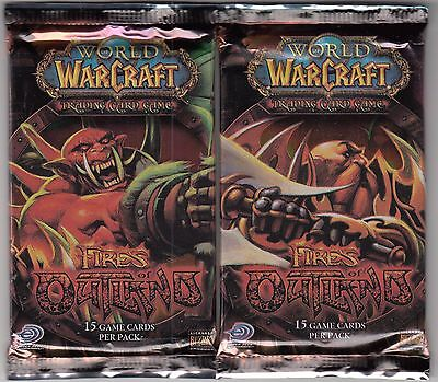 World of Warcraft FIRES OF OUTLAND Booster Pack X5   FREE SHIP US & CANADA