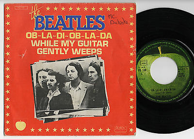 """BEATLES Ob La Di/While My Guitar Gently Weeps +RARE+ French 7"""" w/Different Cover"""