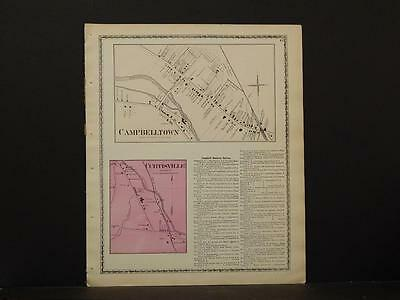 New York, Steuben County Map, 1873, Campbelltown, Curtisville, O6#41