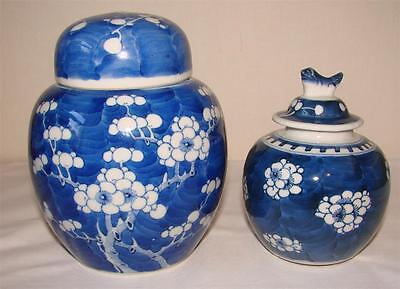 2 Chinese Blue And White Ginger Jars