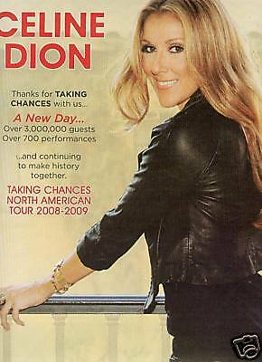 CELINE DION Photo Poster Ad TAKING CHANCE North America