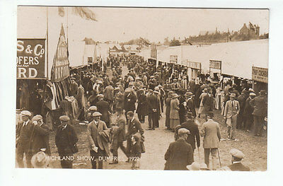 Crowd Of People Highland Show Dumfries 1922 Real Photograph Old Postcard