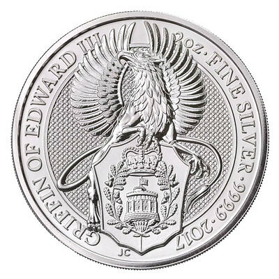 2017 Great Britain 5 Pound 2 oz. .9999 Silver Queen's Beast - Griffin SKU44458