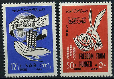 Syria 1963 SG#805-6 Freedom From Hunger MNH Set #D39579